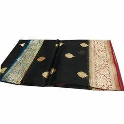 Pure Cotton Festive Wear Ladies Banarasi Traditional Jamawar Saree, 5.5 m