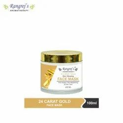 Rangrej's Aromatherapy 24 Carat Gold Skin Purifying Face Mask Anti Blemish & Reduce Acne (100ml)