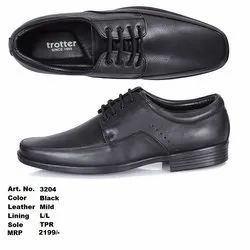 Trotter Black Formal Shoes, Size: 5 - 11