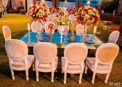 Unity decor Wood Wedding Guest Chair for Dining and VIP GUEST, Set Size: Single
