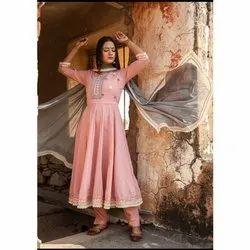 Pink Ladies Designer Anarkali Suit
