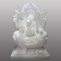 White Marbale Lord Ganesh ji Special Statue