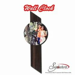 Signature Gifts Analog Designer Photo Wall Clock, For Home, Size: 6 Inch (height)