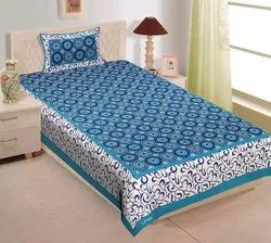 Mix Single Bed Cotton Bed Sheets, One Bedsheet Two Pillow Covers, Size: 60*90