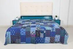 Indian Patchwork Kantha Cotton Bedspread Authentic Patchwork Kantha Quilt For Bedding