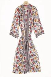 Ladies Designer Cotton Kimono Dress