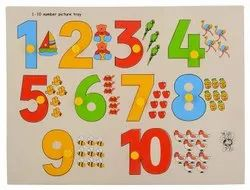 Plastic kids Number Tray Toys, Child Age Group: 4-6 Years