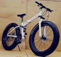 Mercedes Benz White Fat Tyre Foldable Cycle