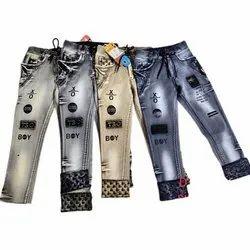 Stretchable Kids Denim Jeans, Size: 26x30, Machine wash