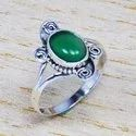 925 STERLING SILVER JEWELRY GREEN ONYX GEMSTONE FINE RING WR-4998