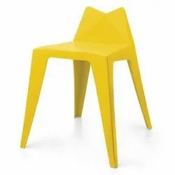 Plastic Tuxx Yellow Cafeteria Chair