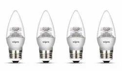 Garnet 5W LED Clear Candle E27