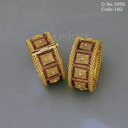Antique Ruby Stone Studded Traditional Bangles