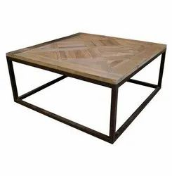 Polished Iron Table, For Hotel and Restaurant, Size: W-100 Cm,H-46 Cm