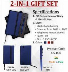 2-In-1 Diary Pen Gift Set Hamper