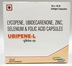 UBIPENE-L (Lycopene, Ubidecarenone, Zinc, Selenium, Folic Acid and L-Arginine Capsules)