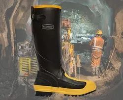 ISI Certification For Safety Rubber Canvas Boots For Miners