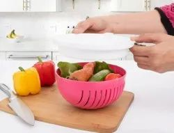Multipurpose Salad Cutter Strainer/Vegetable, Fruits Cutting Bowl