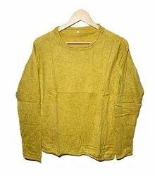 Full Sleeves Men Round Neck Pashmina Woolen Sweater