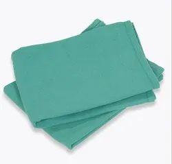Square Green 100 cm Cotton OT Instrument Wrapper, For Hospital