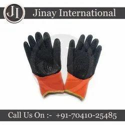 Orange & Black Rubber Sublimation Heat Resistant Hand Gloves For 3D Sublimation