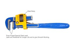 Cast Iron Galvanized Half Paint Heavy Duty Pipe Wrench, Box, Size: 10 Inch