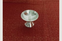 White Metal German Silver Nanda Deep, For Temple, 50gms