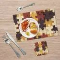 Puzzle Printed Table Placemats With Coaster