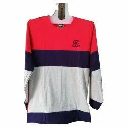 Lycra Cotton Round Neck Full Sleeves T Shirt