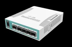 White MIKROTIK CLOUD ROUTER SWITCH, Model Name/Number: CRS106-1C-5S