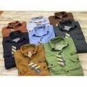 Full Sleeves Plain Mens Fancy Cotton Shirt