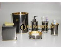 Black Brass Bathroom Accessories Set