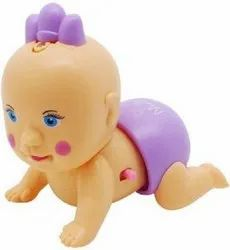 Musical Newborn Crawling Baby Doll Toy With Lights & Sound For Kids (Multicolor)