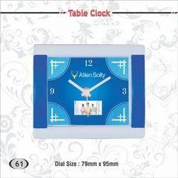 Multicolor Plastic Table Clock ( Allen Solly, Dockers), Shape: Rectangle, Size: Dia 79 Mm X 95 Mm