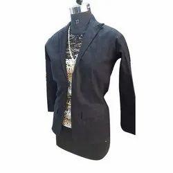 Ladies Black Cotton Jacket