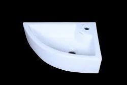 ECOCERA Ceramic DESIGNER CORNER WASH BASIN, For Bathroom, Model Name/Number: Corner-f (wb-14)