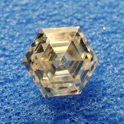 Off White Color Hexagon Cut Loose Moissanite For Jewelry
