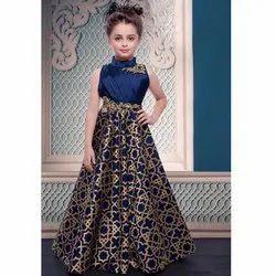 Blue Designer Kids Gown