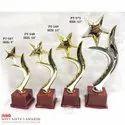 Star Plastic Golden Fibre Curved Fancy Trophie