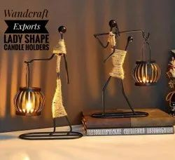 Wandcraft Exports Lady Shape T-light Candle Holders