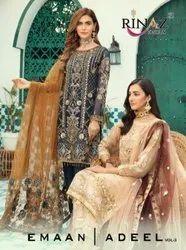 Rinaz Fashion Emaan Adeel Vol 3 Georgette Pakistani Salwar Suit Catalog