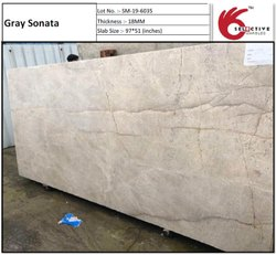 Gray Sonata Marble Slab, Thickness: 18 mm, Size: 97 X 51 Inches