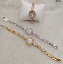 Indo Western Designer American Diamond  Watch