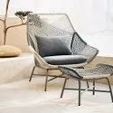Outdoor Large Lounge Chair with Cushion