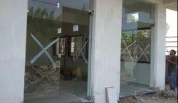 Plain Sliding Glass Door, For Office