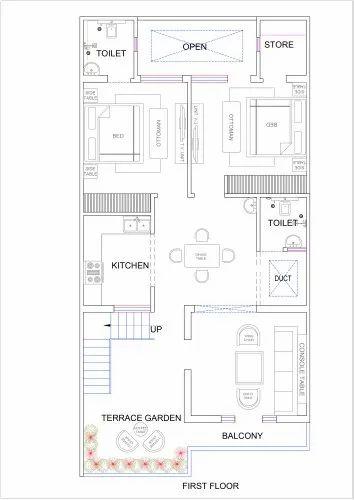 25x50 House Plan In Ahmamau Lucknow Id 22892617012