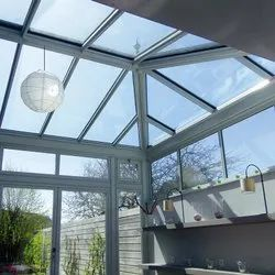 Color Coated Glass Skylight Roofing Service, For Residential