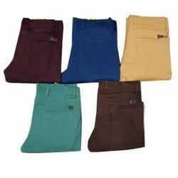 Formal Wear Plain Mens Cotton Trousers, Size: 34