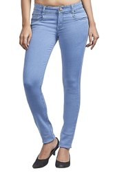 Button Blue Ladies Skinny Stretchable Jeans
