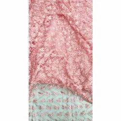 Fancy Scallop Bordered Cut Border Net Fabrics